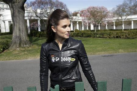 Danica Patrick arrives to participate in the annual Easter Egg Roll on the South Lawn of the White House in Washington