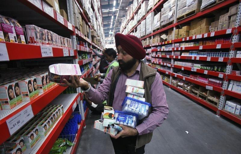 A customer shops at a Best Price Modern Wholesale store in Zirakpur