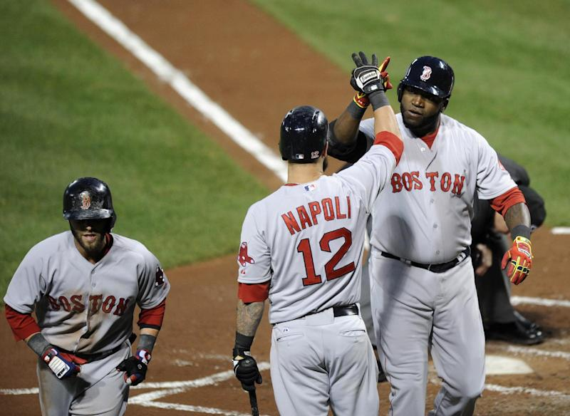 Napoli's 4 RBIs lead Red Sox over Orioles 6-2