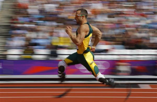 South Africa's Oscar Pistorius competes during round 1 of the men's 400m heats at the London 2012 Olympic Games at the Olympic Stadium August 4, 2012.