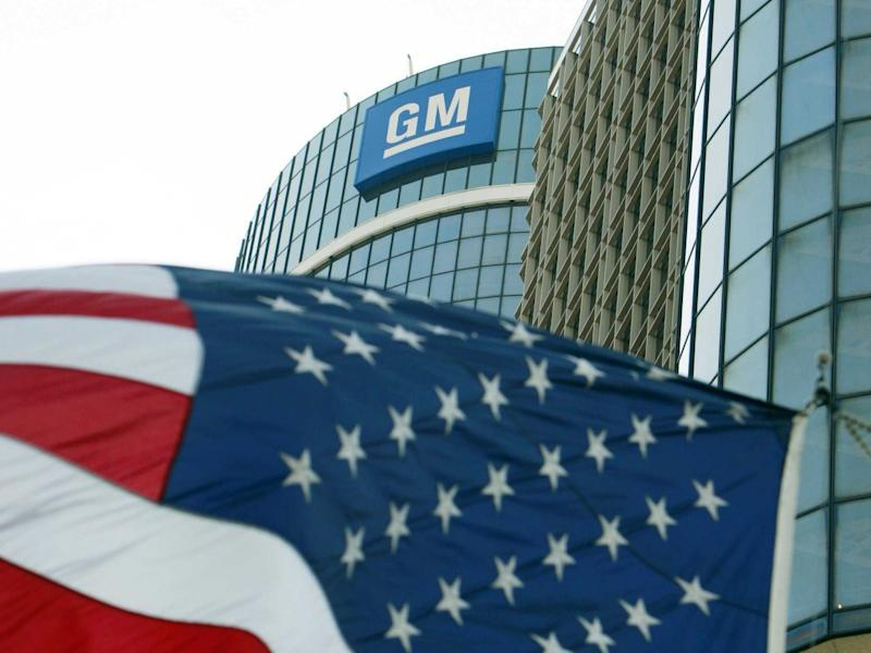 General Motors (GM) and American flag