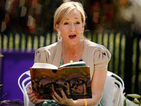 J.K. Rowling reading Harry Potter at White House