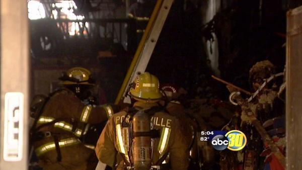Investigators search for cause of a Porterville Fire