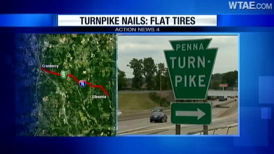 Magnet truck clears nails from Pennsylvania Turnpike