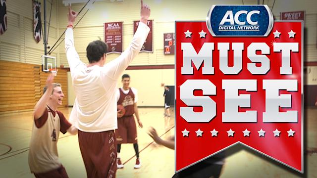 BC's Dennis Clifford Makes Remarkable Full Court Trick Shot | ACC Must See Moments