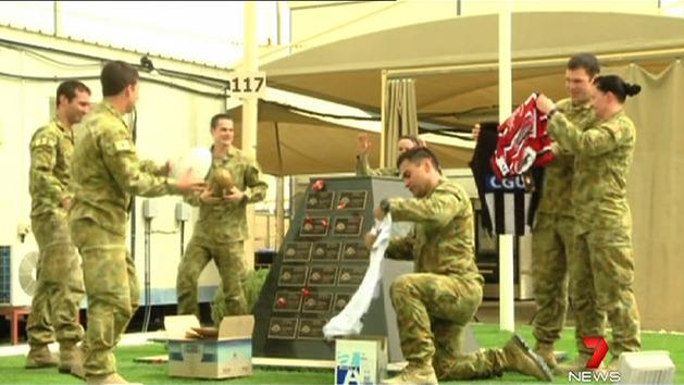 Aussie troops geared for Anzac games