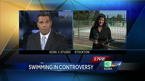 Pool issue causing waves in Stockton