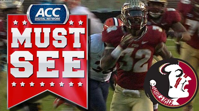 FSU RB James Wilder Jr.'s Tremendous Touchdown Run | ACC Must See Moment