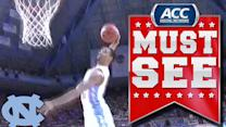 UNC's J.P. Tokoto Flies Down The Lane For Ridiculous Dunk | ACC Must See Moment