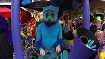 Raw: Mardi Gras Revelers Dance Into Lent