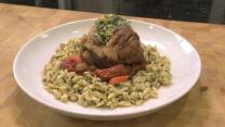 How to make pork osso bucco and herb spaetzle