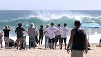 Hurricane Marie Brings Epic Waves to Southern Calif.