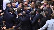 Ukrainian MPs Brawl in Parliament