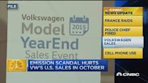 CNBC update: VW US sales suffer after scandal