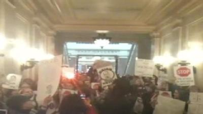 Raw Video: Students Protest At Capitol