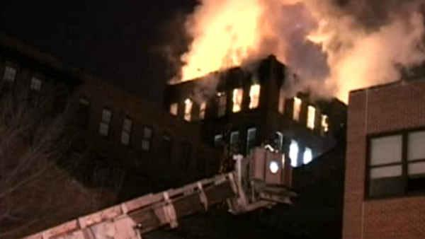Huge fire tears though Pratt Institute building