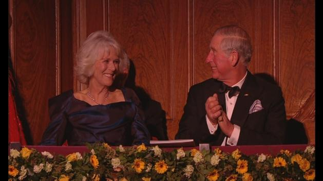 Prince Charles and Camilla at Royal Variety Performance 2013