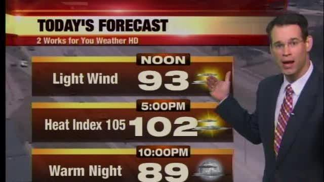 George Flickinger's weather from 2NEWS Midday