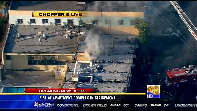 Fire at commercial building in Bay Park