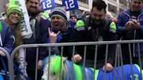 Seahawks Fans Rally Ahead of Sunday's Game