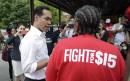 Julian Castro joins McDonald's strikers in North Carolina