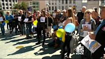 SF Protesters March In Solidarity With Russians Over Activists Death