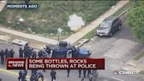 Several police officers injured in Baltimore