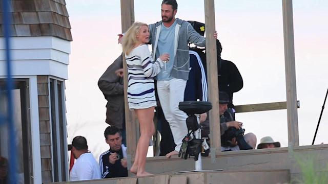 Cameron Diaz Gets Up Close and Personal With Taylor Kinney on Film Set