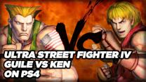 Guile vs Ken on PS4 at 1080p/60 Gameplay - Ultra Street Fighter IV