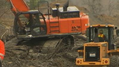 Drier Weather Could Help Mudslide Search