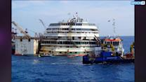 Shipwrecked Concordia Floated For Tow To Genova