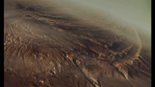 Mars 3D flyover video