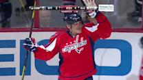 Alex Ovechkin finishes with the one-timer