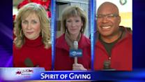 Judy, Tracy, Roz and Hosea out at Spirit of Giving locations