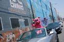 Los Angeles union, joined by 'Pandemic Pig,' demands meatpacking plant closure