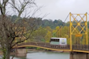 Terrifying video shows a bridge sagging under the weight of a massive bus