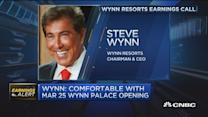Wynn Macau's revenues drop