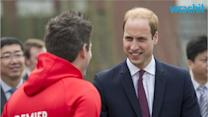 Prince William Poses With Paddington Bear, Plays Soccer With Schoolchildren in China
