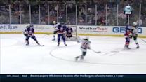 Spurgeon rings the crossbar on one-timer goal