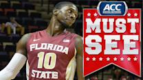 FSU's Okaro White Throws Down Exciting Alley-Oop | ACC Must See Moment
