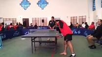Incredible Armless Ping Pong Player