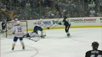 Deryk Engelland rips one past Ryan Miller