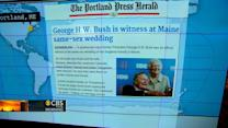 Headlines: George H.W. Bush serves as witness at same-sex wedding in Maine