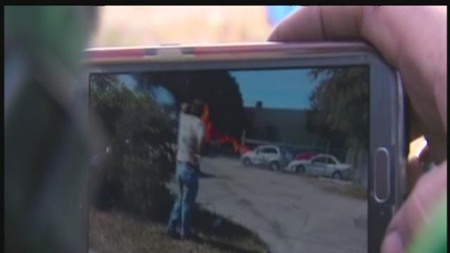 Cellphone video captured flames after small plane crashed near Ft. Lauderdale Executive Airport