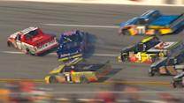 Multiple trucks damaged in \x{2018}Dega wreck