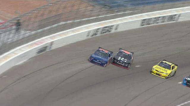 Bayne and Larson Tangle Racing for Lead