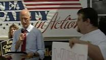 Tea Party Protester Interrupts Rick Scott