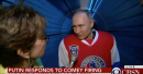 Putin responds to James Comey's firing in bizarre interview in full hockey gear