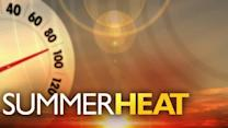 Summer camp kids cope with heat