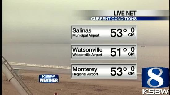 Get Your Monday KSBW Weather Forecast 5.27.13